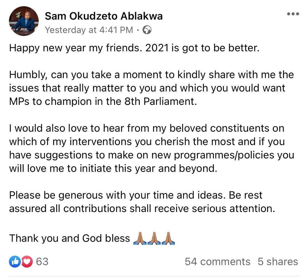 3cdec6b7078ebfd5e701c784713e0e56 - Okudzeto Ablakwa Gives His Constituents The Go Ahead To Tell Him Their Needs