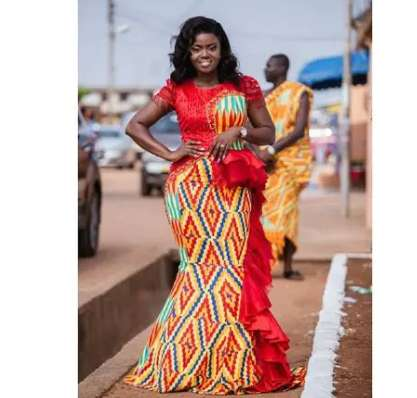 check out some beautiful Kente with Lace combinations you can wear for all occasions (photos) 11
